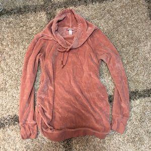 Isabel Maternity Velour Sweatshirt